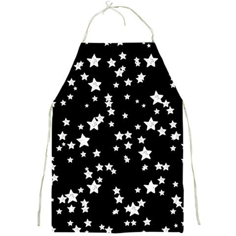 Black And White Starry Pattern Full Print Aprons