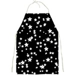 Black And White Starry Pattern Full Print Aprons Front