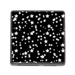 Black And White Starry Pattern Memory Card Reader (Square) Front