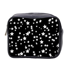 Black And White Starry Pattern Mini Toiletries Bag 2-Side