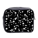 Black And White Starry Pattern Mini Toiletries Bag 2-Side Back