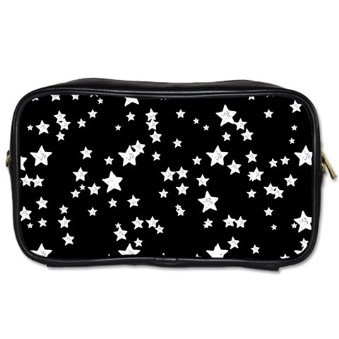 Black And White Starry Pattern Toiletries Bags