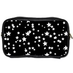 Black And White Starry Pattern Toiletries Bags Front