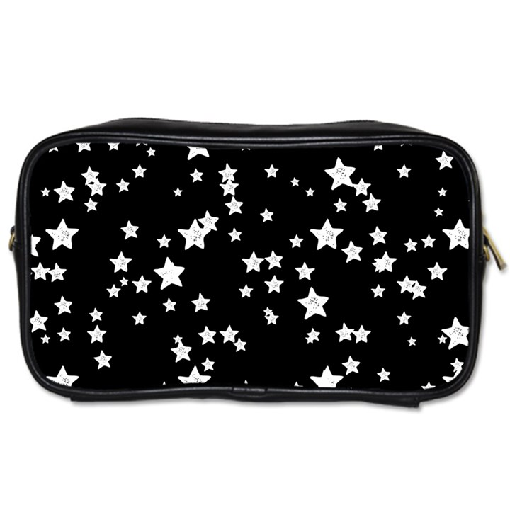 Black And White Starry Pattern Toiletries Bags 2-Side