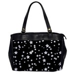 Black And White Starry Pattern Office Handbags Front