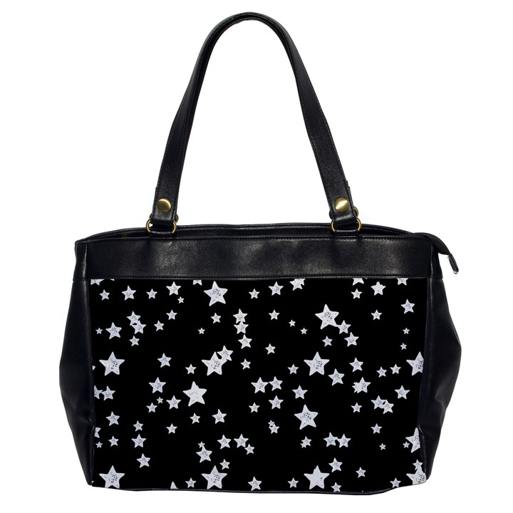 Black And White Starry Pattern Office Handbags