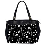 Black And White Starry Pattern Office Handbags (2 Sides)  Front