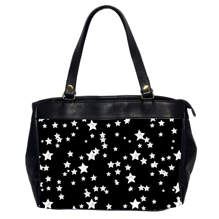 Black And White Starry Pattern Office Handbags (2 Sides)