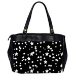 Black And White Starry Pattern Office Handbags (2 Sides)  Back
