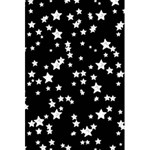 Black And White Starry Pattern 5.5  x 8.5  Notebooks Back Cover Inside