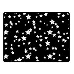 Black And White Starry Pattern Fleece Blanket (Small) 50 x40 Blanket Front