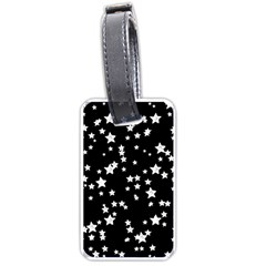 Black And White Starry Pattern Luggage Tags (One Side)
