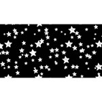 Black And White Starry Pattern Magic Photo Cubes Long Side 2