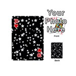 Black And White Starry Pattern Playing Cards 54 (Mini)  Front - Heart10