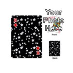 Black And White Starry Pattern Playing Cards 54 (Mini)  Front - DiamondK