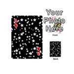 Black And White Starry Pattern Playing Cards 54 (Mini)  Front - DiamondA