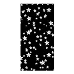 Black And White Starry Pattern Shower Curtain 36  x 72  (Stall)  36 x72 Curtain