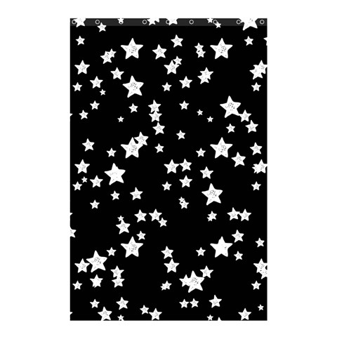 Black And White Starry Pattern Shower Curtain 48  x 72  (Small)