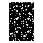 Black And White Starry Pattern Shower Curtain 48  x 72  (Small)  42.18 x64.8 Curtain