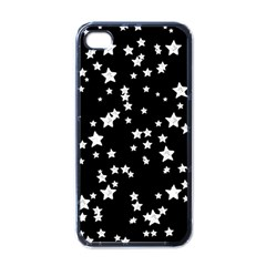 Black And White Starry Pattern Apple Iphone 4 Case (black)