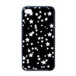 Black And White Starry Pattern Apple iPhone 4 Case (Black) Front