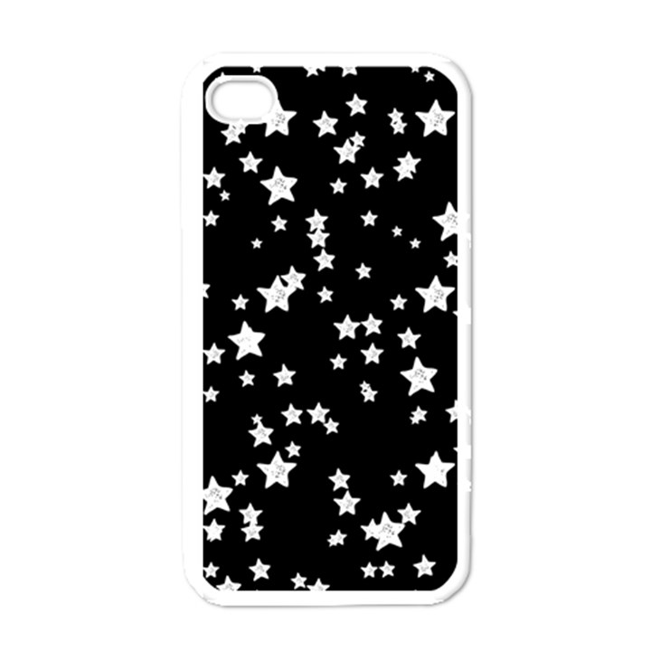 Black And White Starry Pattern Apple iPhone 4 Case (White)