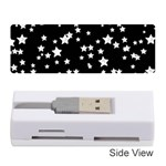 Black And White Starry Pattern Memory Card Reader (Stick)  Front