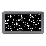 Black And White Starry Pattern Memory Card Reader (Mini) Front