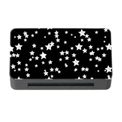 Black And White Starry Pattern Memory Card Reader with CF