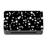 Black And White Starry Pattern Memory Card Reader with CF Front