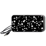 Black And White Starry Pattern Portable Speaker (Black)  Front