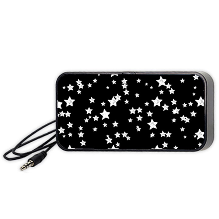 Black And White Starry Pattern Portable Speaker (Black)