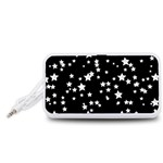 Black And White Starry Pattern Portable Speaker (White)  Front