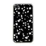 Black And White Starry Pattern Apple iPhone 4 Case (Clear) Front