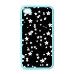 Black And White Starry Pattern Apple iPhone 4 Case (Color) Front