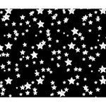Black And White Starry Pattern Deluxe Canvas 14  x 11  14  x 11  x 1.5  Stretched Canvas