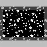 Black And White Starry Pattern Deluxe Canvas 18  x 12   18  x 12  x 1.5  Stretched Canvas