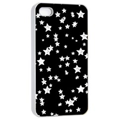 Black And White Starry Pattern Apple Iphone 4/4s Seamless Case (white)