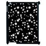 Black And White Starry Pattern Apple iPad 2 Case (Black) Front