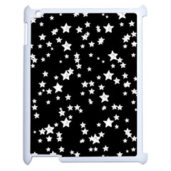 Black And White Starry Pattern Apple iPad 2 Case (White)