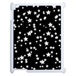 Black And White Starry Pattern Apple iPad 2 Case (White) Front