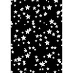 Black And White Starry Pattern Apple 3D Greeting Card (7x5) Inside
