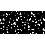 Black And White Starry Pattern Merry Xmas 3D Greeting Card (8x4) Front