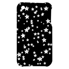 Black And White Starry Pattern Apple iPhone 3G/3GS Hardshell Case