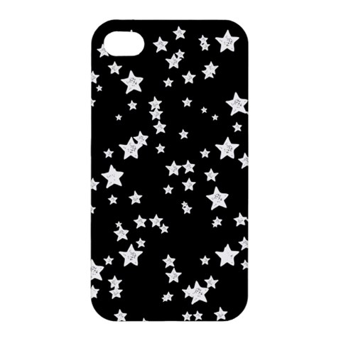 Black And White Starry Pattern Apple iPhone 4/4S Hardshell Case