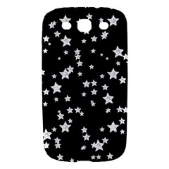 Black And White Starry Pattern Samsung Galaxy S III Hardshell Case