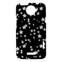 Black And White Starry Pattern HTC One X Hardshell Case