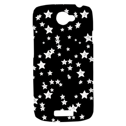 Black And White Starry Pattern HTC One S Hardshell Case