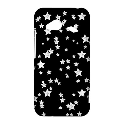 Black And White Starry Pattern HTC Droid Incredible 4G LTE Hardshell Case