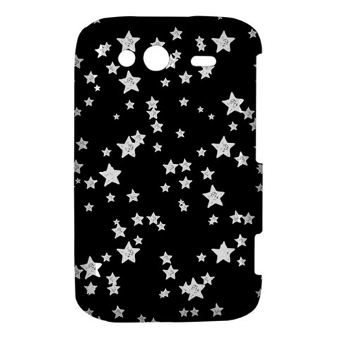 Black And White Starry Pattern HTC Wildfire S A510e Hardshell Case